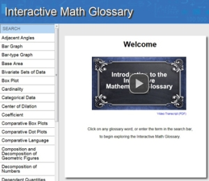 Interactive Math Glossary: Help with new math TEKS vocabulary