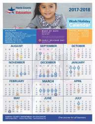 2017-18 HCDE Work and Holiday Calendar