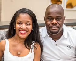 Sharvon Pipkins Kamaya and her husband, Gino Kamaya, who also works at HCDE.